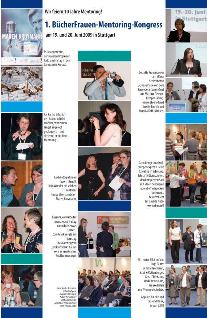 Das Plakat zeigt viele Fotos des Mentoringkongresses 2009