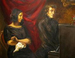 Delacroix (Louvre, Paris): George Sand und Chopin
