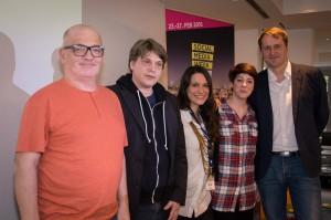 Einen Blick in die Zukunft werfen v. l. n. r.: Christoph Kappes, Jan Karsten, Sanja Stankovic, Tea Herovic und Kai Wels.
