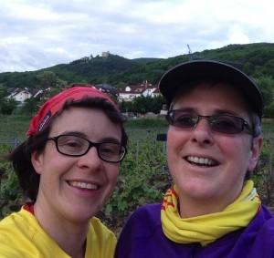 Anne Betten und Frauke Ehlers beim Morgenlauf EV Neustadt 2014