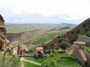 """Die Klosterhöhlen """"Dawit Garedscha"""" an der Grenze zu Aserbaidschan"""