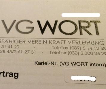 VG-Wort-Briefkopf