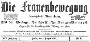 Aus: Die Frauenbewegung 1913.