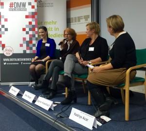 Teilnehmerinnen der Podiumsdiskussion. Foto: Eva Hehemann.
