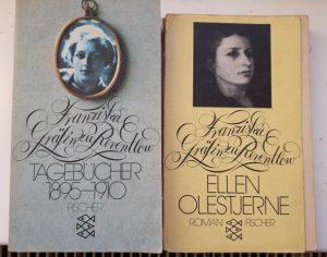 """Buchcover Franziska Gräfin zu Reventlow """"Tagebücher 1895–1910"""" und """"Ellen Olestjerne"""""""