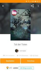 Mein Roman (App-Ansicht)