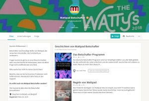 Das Profil der Wattpad-Botschafter
