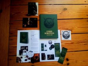 Werbematerial zum Buch Codex Roboticus