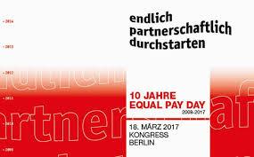 Das Logo des Kongresses 10 Jahre Equal Pay Day am 18. März 2017 in Berlin