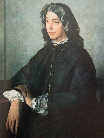 Auf dem Bild ist ein Porträt von Henriette Feuerbach zu sehen.