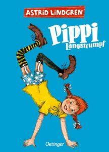 Das Cover zeigt eine Zeichentrick-Pippi-Langstrumpf auf den Händen.