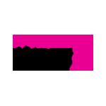 Das Logo zeigt zwei Worte: Frauen zählen mit einer Raute in den Farben Lila und schwarz.